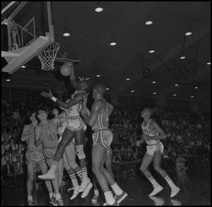 Primary view of object titled '[North Texas Basketball Game Against Oklahoma City]'.