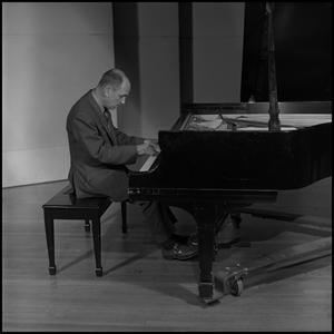 Primary view of object titled '[Stefan Bardas at piano]'.
