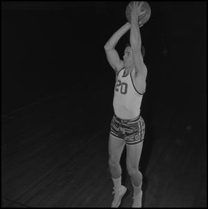 Primary view of object titled '[Varsity Basketball Player Bud Forman]'.