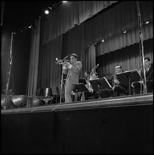 Primary view of object titled '[Trumpet soloist at the Lab Band concert]'.