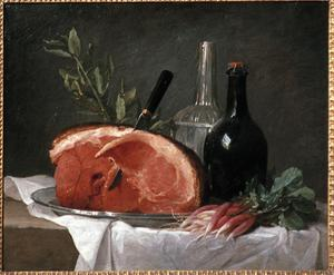 Primary view of object titled 'Still Life with Ham'.