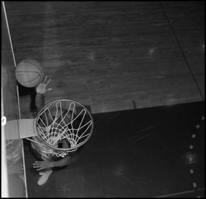 Primary view of object titled '[NTSU Basketball Player Dwight Lowery, 2]'.
