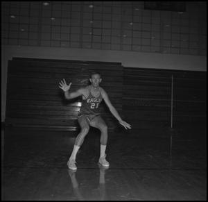 Primary view of object titled '[Doug Reedy with his arms open, 2]'.