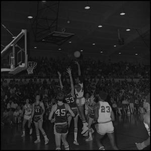 Primary view of object titled '[Men's Basketball NTSU Eagles vs Fullerton Titans]'.
