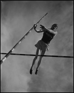 Primary view of object titled '[Jim Bone Pole Vaulting]'.