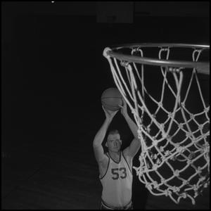 Primary view of object titled '[Basketball Player Wayne Hopkins]'.