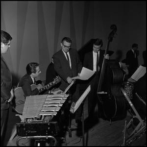 Primary view of object titled '[Leon Breeden with band members]'.