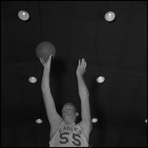 Primary view of object titled '[North Texas Basketball Player No. 55 Wayne Hopkins]'.