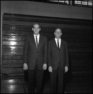 Primary view of object titled '[Two Basketball Coaches]'.
