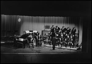 Primary view of object titled '[One O'Clock Lab Band on stage]'.