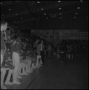 Primary view of object titled '[Men's Basketball Game Sidelines]'.