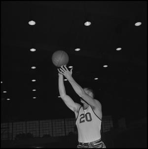 Primary view of object titled '[North Texas Basketball Player No. 20 Bud Forman]'.