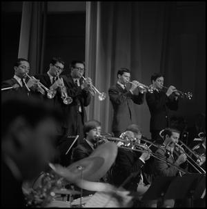Primary view of object titled '[Trumpet players in a Lab Band]'.