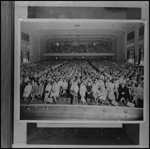 Primary view of [Audience in Administration Building's auditorium]