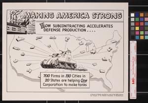 Primary view of object titled 'Making America strong : how subcontracting accelerates defense production--.'.