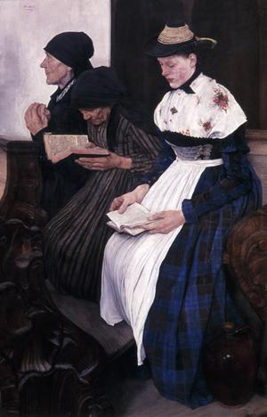 Primary view of Three Women in a Village Church
