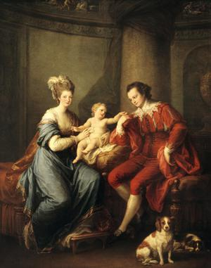 Primary view of object titled 'Earl of Derby and Lady Hamilton with Their Infant Son'.