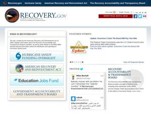 Primary view of object titled 'Recovery.gov: the official U.S. Government website for the Recovery Accountability and Transparency Board'.
