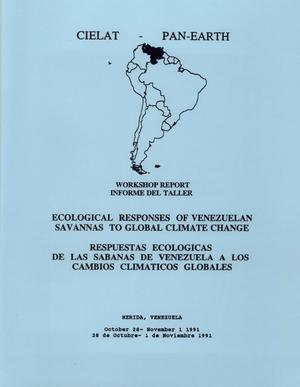 Primary view of object titled 'Ecological Responses of Venezuelan Savannas to Global Climate Change: Workshop Report'.