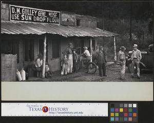 Primary view of object titled '[People Outside General Store]'.