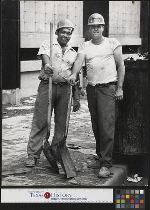 Primary view of object titled '[Two Construction Workers]'.