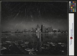 Primary view of object titled '[Detroit Skyline in Winter 1959]'.