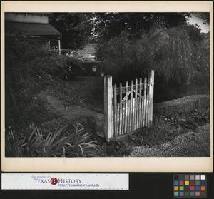 Primary view of object titled '[Weathered gate]'.