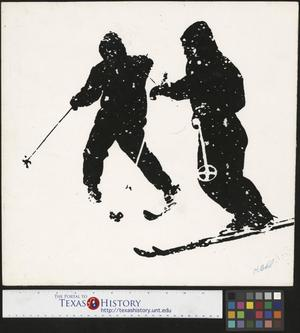 Primary view of object titled '[Overexposed skiers]'.