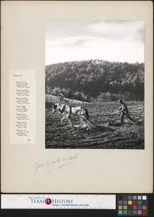 Primary view of object titled '[Man Plowing With an Accompanying Poem]'.