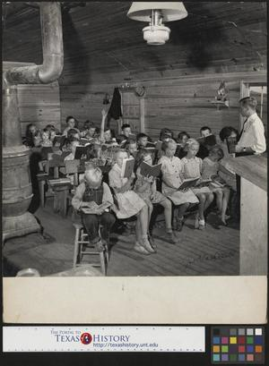Primary view of object titled '[Children reading at Locust Grove School]'.