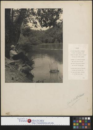 Primary view of object titled '[Man Fishing with Accompanying Poem]'.