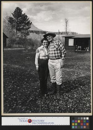 Primary view of object titled '[Two People in Casper, Wyoming]'.