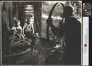 Primary view of object titled '[Boys in Blacksmith Shop]'.