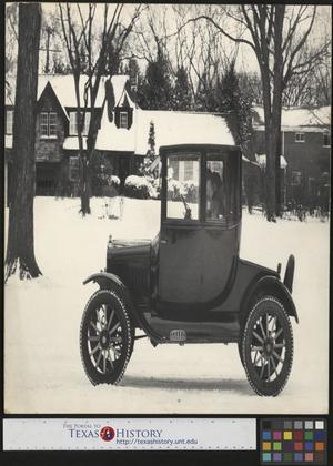 Primary view of object titled '[Ford Model T in the Snow]'.