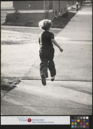 Primary view of object titled '[Young Girl Child Running in Mid Air]'.