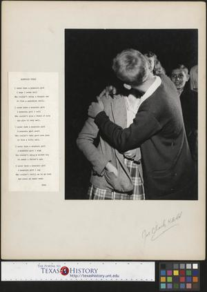 Primary view of object titled '[Man and Woman Kissing]'.