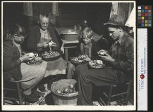 Primary view of object titled '[Family Making Apple Butter]'.