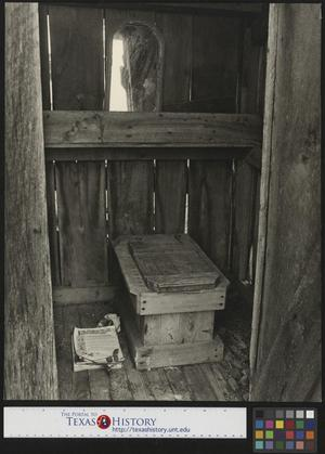 Primary view of object titled '[Interior of Outhouse]'.