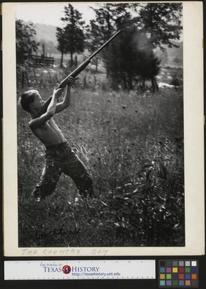 Primary view of object titled '[Jimmy Powell Shooting Gun]'.