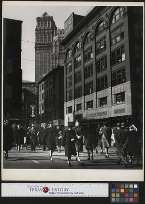 Primary view of object titled '[People in Downtown Detroit]'.