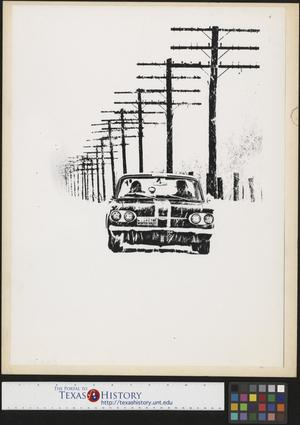 Primary view of object titled '[Chevrolet Corvair Driving in Snow]'.