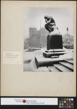 Primary view of object titled '[Photograph of The Thinker]'.
