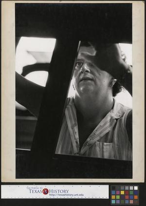 Primary view of object titled '[Woman Working at the Chrysler Dodge Factory]'.