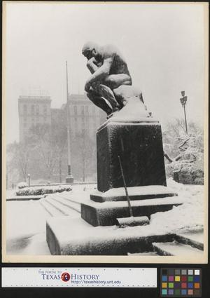 Primary view of object titled '[The Thinker in Snow Storm]'.
