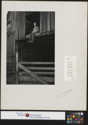 Primary view of object titled '[Young Junebug Clark with accompanying poem]'.