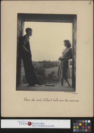 Primary view of object titled '[Gilbert Dove and Hazel Petrey discuss their wedding(1)]'.