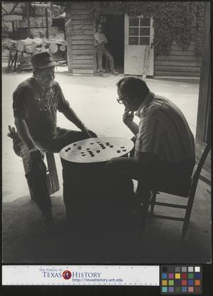 Primary view of object titled '[Men Playing Checkers]'.