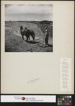 Primary view of object titled '[Boy Plowing Ground with Accompanying Poem]'.