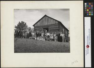 Primary view of object titled '[Country wedding group photo (1)]'.
