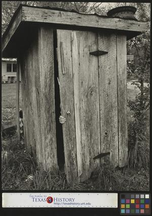 Primary view of object titled '[Outhouse at Have Lamont Smith's Farm]'.